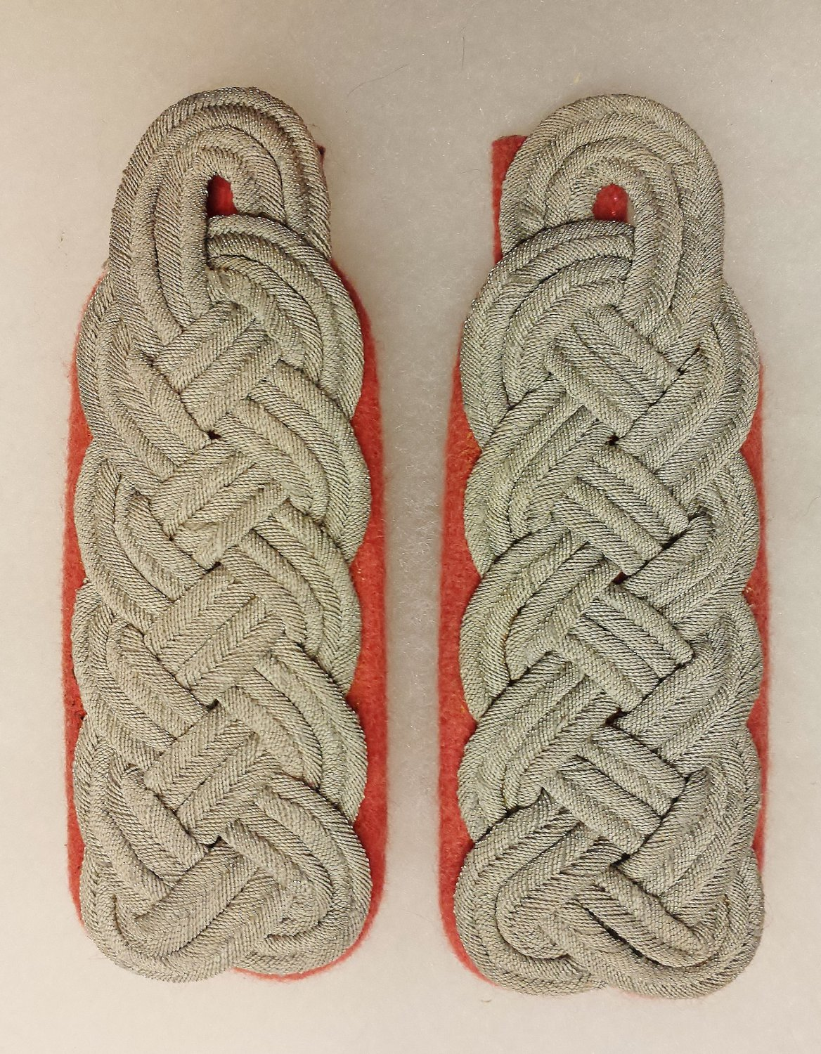 WWII GERMAN SS PANZER OFFICERS SHOULDER BOARDS