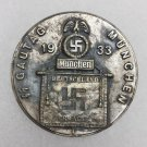 WWII GERMAN NAZI 1933 SS GAUTAG MUNCHEN PIN BADGE