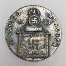 WWII GERMAN NAZI 1933 SS GAUTAG MUNCHEN PIN BADGE