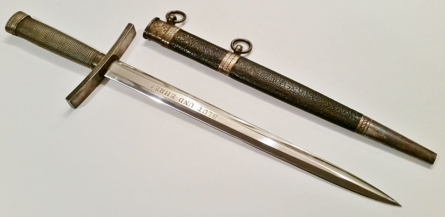 WWII GERMAN NAZI HJ HITLER YOUTH LEADERS DAGGER