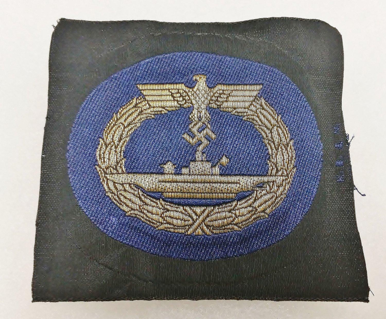 WWII WW2 GERMAN KRIEGSMARINE U-BOAT BADGE IN CLOTH BULLION