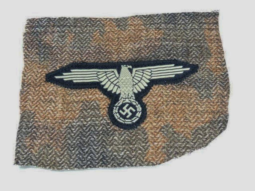 WWII GERMAN NAZI SS TROPICAL SMOCK SLEEVE EAGLE