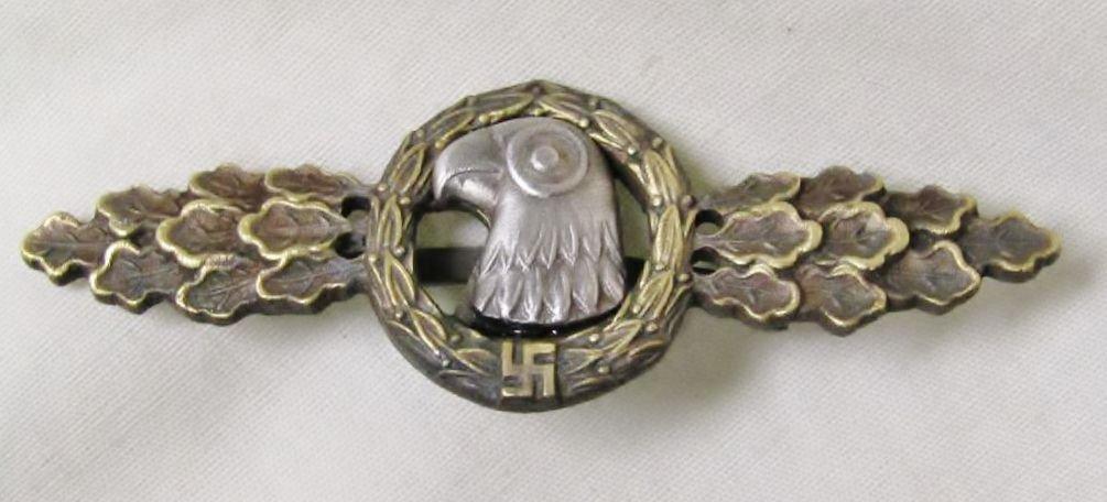 WWII GERMAN NAZI LUFTWAFFE RECONNAISSANCE CLASP - BRONZE