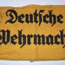 WWII GERMAN NAZI DEUTSCHE WEHRMACHT ARMBAND