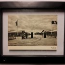 WWII GERMAN NAZI FRAMED SS POSTCARD