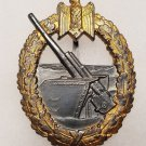 WWII WW2 GERMAN NAZI KRIEGSMARINE COASTAL ARTILLERY BADGE