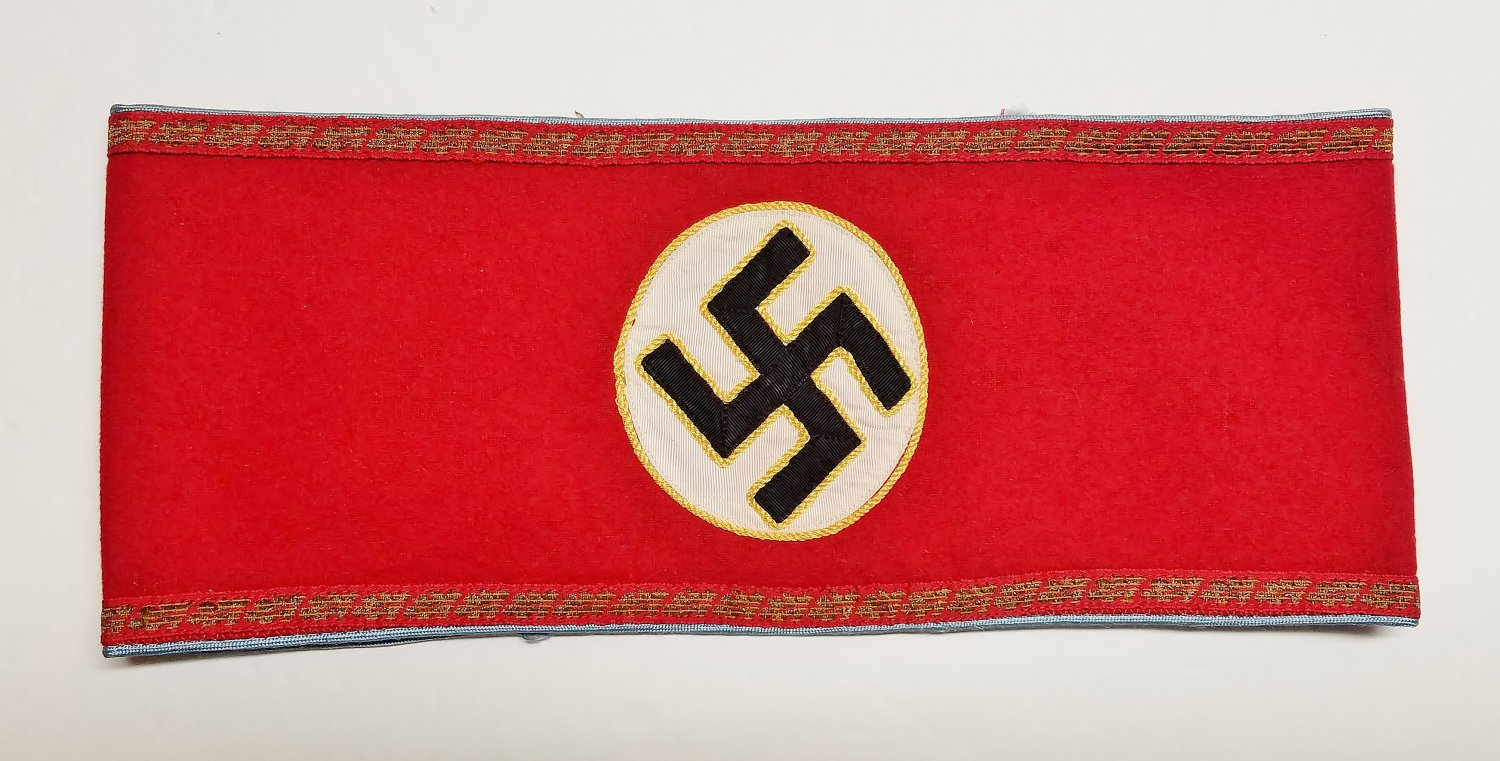 WWII GERMAN NAZI NSDAP ORTS LEVEL POLITICAL LEADERS ARMBAND