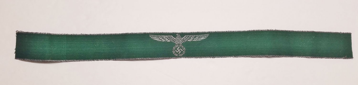 WWII GERMAN NAZI BORDER PROTECTION POLICE & CUSTOMS CUFF TITLE