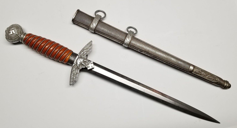 WWII German Nazi Luftwaffe 2nd Model Dagger - Personalized