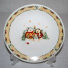 Gibson Debi Hron Snowman Frolic Salad Plate MULTIPLES AVAILABLE