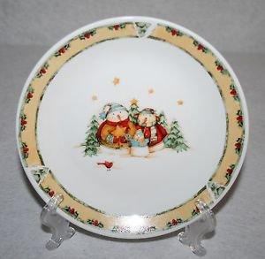 Gibson Debi Hron Snowman Frolic Salad Plate MULTIPLES AVAILABLE