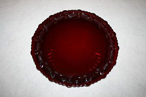 """Avon Cape Cod RUBY RED Dinner Plate 10 3/4"""" MULTIPLES AVAILABLE"""