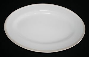 "Echo Design New York White Oval Serving Platter Plate 14 1/2"" MULTIPLES AVAIL."