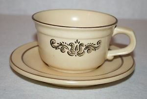 Pfaltzgraff Village Brown Cup & Saucer MULTIPLES AVAILABLE