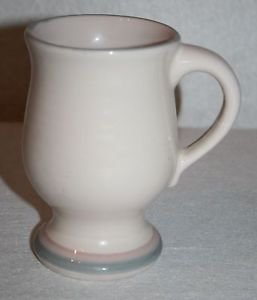 """Pfaltzgraff USA AURA Pedestal Mug Cup Grandmug 5"""" Pink Grey"""