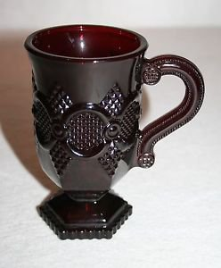"""Avon Cape Cod RUBY RED Mug 5"""" MULTIPLES AVAILABLE"""