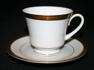 MINT Noritake Contemporary Queens Gold 4285 Cup & Saucer MULTIPLES AVAILABLE