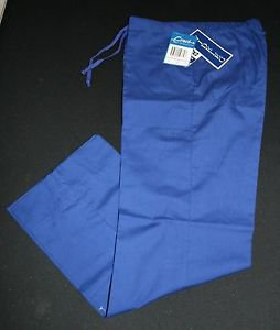 NWT Crest Scrub Pants S Womens Wideleg Electric Blue Nursing Vet Style 148