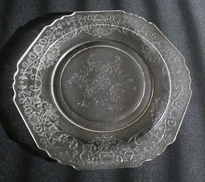 "Vintage Hazel-Atlas ""Florentine #1"" Hexagonal Dinner Plate MULTIPLES AVAILABLE"
