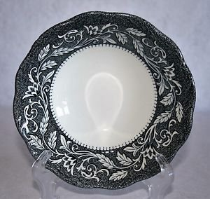 J&G Meakin RENAISSANCE Black Cereal Bowl English Sterling MULTIPLES AVAILABLE