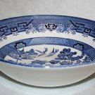 "CHURCHILL England BLUE WILLOW Round Vegetable Bowl 9 3/8"" ~MINT~ MULTIPLES AVAIL"