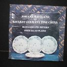 "4 NIB Johann Haviland Bavaria German Fine China Blue Garland 7 3/4"" Salad Plates"