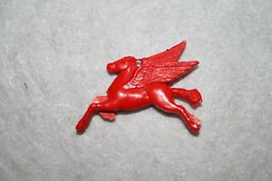 Vintage MOBIL OIL PEGASUS Red Flying Horse with Wings CHARM not-cracker-jack