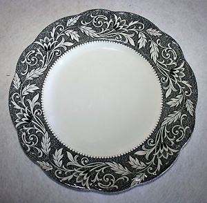 J&G Meakin RENAISSANCE Black Dinner Plate English Sterling MULTIPLES AVAILABLE