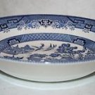 "CHURCHILL England BLUE WILLOW Round Vegetable Bowl 8 7/8"" ~MINT~"