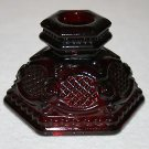 "Avon Cape Cod RUBY RED Candle Holder 2 1/2"" MULTIPLES AVAILABLE"