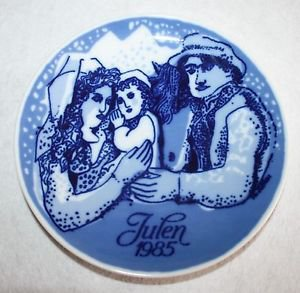 Vintage 1985 Porsgrund Norway Julen Collector Plate Christmas in the Country 7�