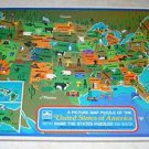 # Vintage 1968 United States of America Picture Map Puzzle from Golden & Design