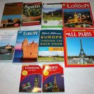 LOT of 10 Travel Guide Books-SPAIN -PARIS - LONDON - SWITZERLAND - EUROPE
