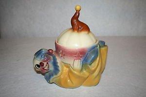 Vintage Shawnee #12 Jo Jo the Clown with Seal Cookie Jar / Biscuit Jar!
