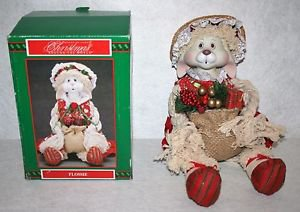 House of Lloyd Christmas Around The World  Porcelain Flossie Doll Bunny MIB