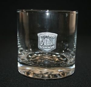 "Cutty Sark Scotch Rock Glasse With Pewter Logo ""The Real McCoy"" MULTIPLES AVAIL"