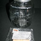 # Barrel Glass Jar Anchor Hocking 1 Gallon Lid Clear Food Storage Container New