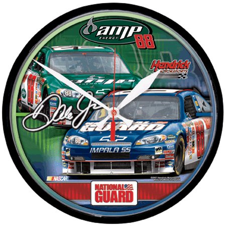 NEW for 2008 Dale Earnhardt Jr. Round Clock featuring  #88 Car