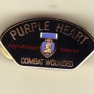 Afghanistan Purple Heart Hat Pin