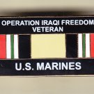 Iraq Veteran Marine Hat Pin