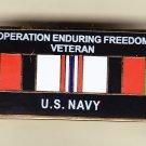 Afghanistan (enduring Freedom) Veteran Navy Hat Pin