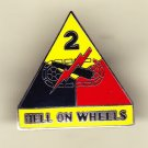 2nd Armored Division Hat Pin