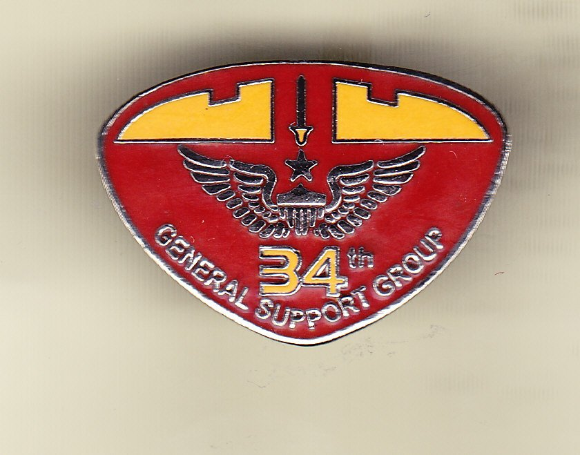 34th General Support Command Hat Pin