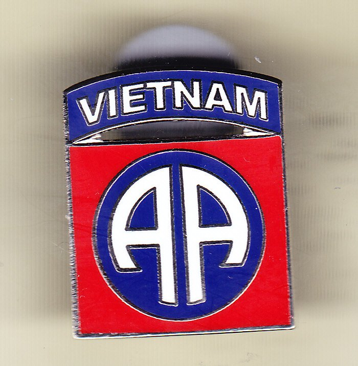 82nd Airbone Division Vietnam Hat Pin
