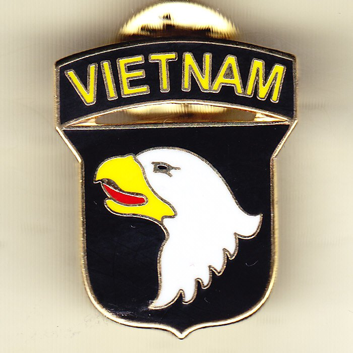 101st Airborne Division Vietnam Hat Pin