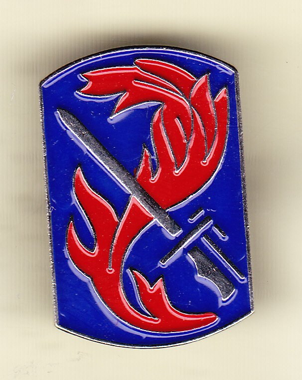 198th Infantry Brigade Hat Pin