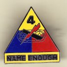 4th Armored Division Hat Pin