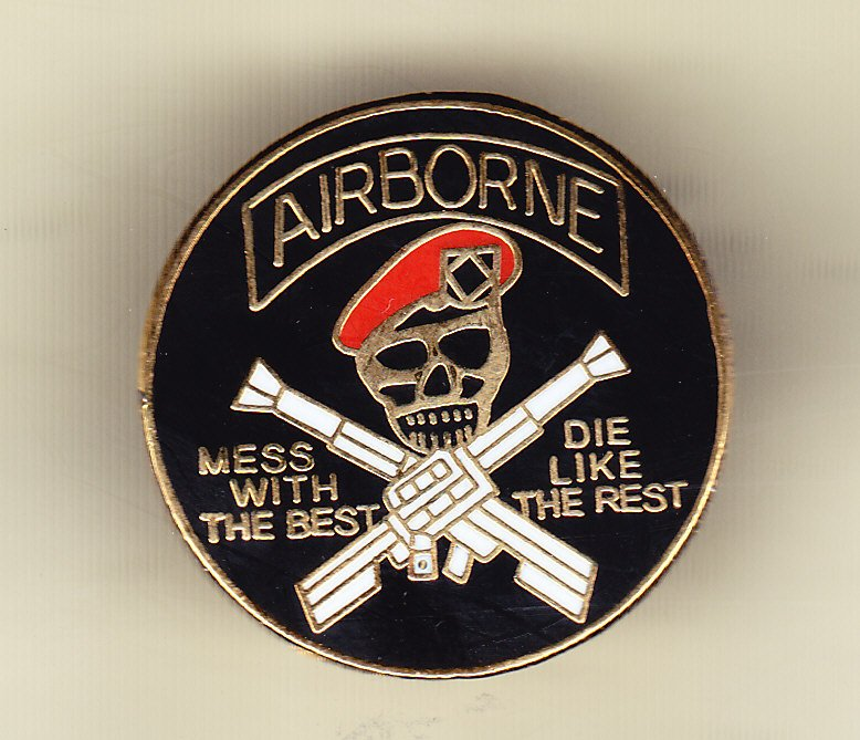 Airborne (round) mess with the best Hat Pin