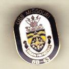 USS Missouri BB-63 Hat Pin