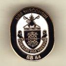 USS Wisconsin BB-64 Hat Pin